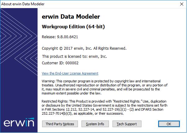 erwin Data Modeler Online Help Release 9.8
